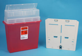 Hidden Wall Bracket and Key for Covidien Sharps-A-Gator™ Point-of-Use Sharps Container