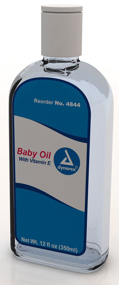 Dynarex Baby Oil, 12oz Bottle