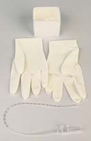 Cath-N-Glove Set with Basin, Vinyl