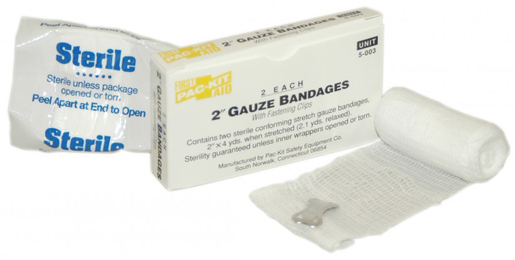 First Aid Only<sup>®</sup> Pac-Kit Stretch Gauze Compression Bandages, Sterile, 2&rdquo;