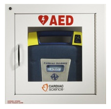 Cardiac Science<sup>&reg;</sup> AED Wall Cabinet, Surface Mount, with Alarm