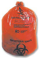 "MD Industries Ultra Tuff Biohazard Bags, 11"" x 14"""