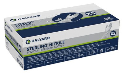 O&M Halyard Sterling Nitrile Powder-free Exam Gloves