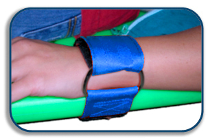 DMS Nylon Limb Restraint, Wrist, Blue, Pair