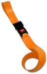 DMS BioThane<sup>&reg;</sup> G1 Stretcher Straps, Metal Push Button Buckle, 1-piece, 3', Orange