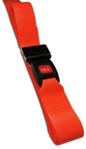 DMS BioThane<sup>®</sup> G1 Stretcher Straps, Metal Push Button Buckle, 1-piece, 7', Orange
