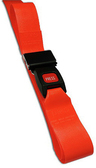 DMS BioThane<sup>®</sup> G1 Stretcher Straps, Metal Push Button Buckle, 1-piece, 9', Orange