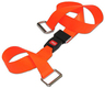 DMS BioThane<sup>&reg;</sup> G1 Stretcher Straps, Metal Push Button Buckle with Metal Loop Ends, 2-piece, 5', Orange
