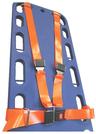 DMS BioThane<sup>®</sup> G1 Shoulder Harness Restraint System, Metal Buckle, Loop Ends, Orange