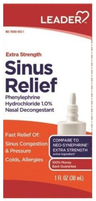 Leader Sinus Relief Extra Strength Nasal Spray