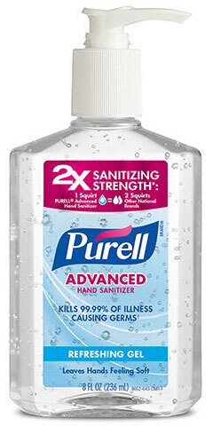 Purell<sup>®</sup> Advanced Hand Sanitizer Refreshing Gel, 70%, 236mL Pump Bottle