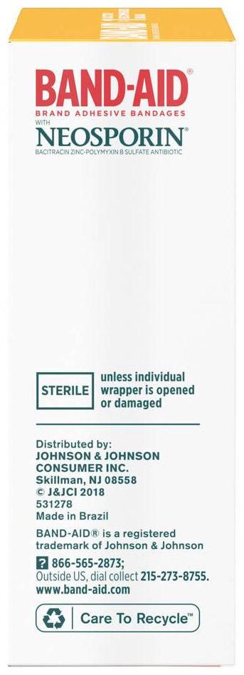 Johnson & Johnson Band-Aid<sup>®</sup> Antibiotic Bandages, Assorted, 20/pkg