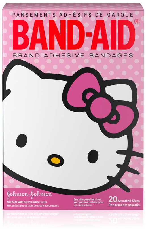 Johnson & Johnson Hello Kitty Band-Aid<sup>®</sup> Bandages, Assorted