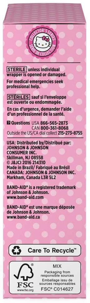 Johnson & Johnson Hello Kitty Band-Aid<sup>&reg;</sup> Bandages, Assorted