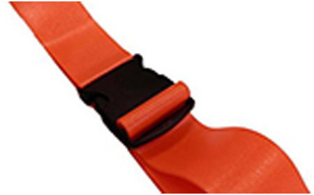 DMS BioThane<sup>&reg;</sup> G1 Stretcher Straps, Plastic Side Release Buckle, 1-piece, 7', Black