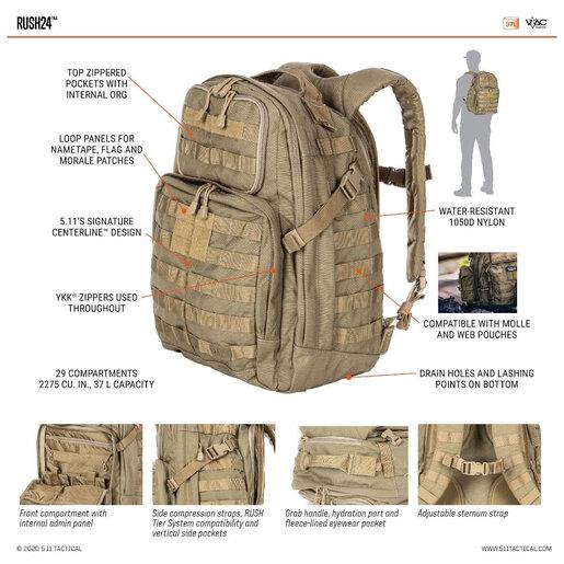 5.11<sup>®</sup> RUSH24<sup>™</sup> Backpack