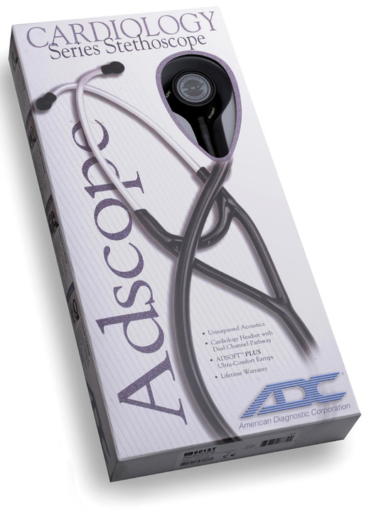 ADC<sup>&reg;</sup> Adscope<sup>™</sup> Cardiology Stethoscope, 600 Platinum Edition, Black
