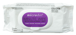 "Microdot<sup>®</sup> Minute Wipe, Flow Pack, 6"" x 6 3/4"", 60/pkg"