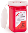 Sharps Pro-Tec Collection Container, 1qt, Red