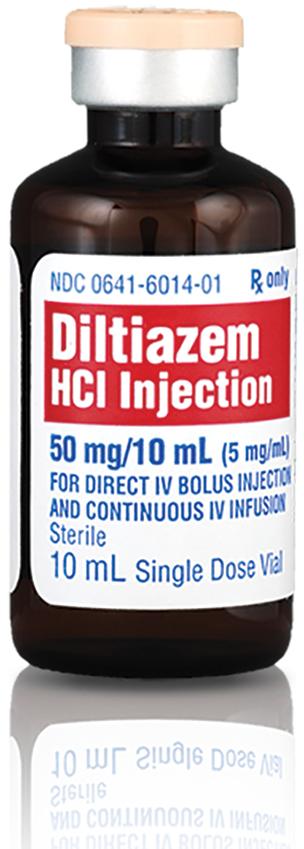 Diltiazem Hydrochloride Injection, 50mg/mL, 10mL Vial