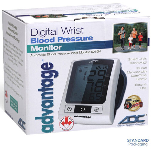 ADC<sup>®</sup> Advantage<sup>™</sup> Digital Wrist Blood Pressure Monitors, Model 6015