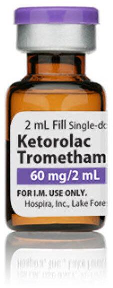 Ketrolac, 60mg, 2mL Vial, 25/box