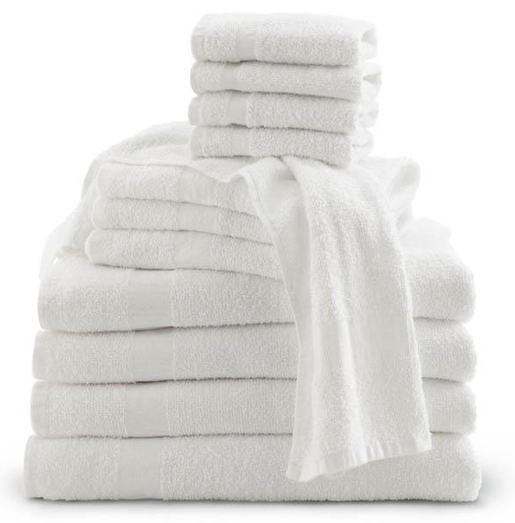 "Cotton Terry Towel, White, 20"" x 40"""