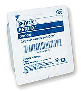 "Kendall Gauze Sponges with Plastic Tray, Sterile, 4"" x 4"", 12-ply, 10/Tray"