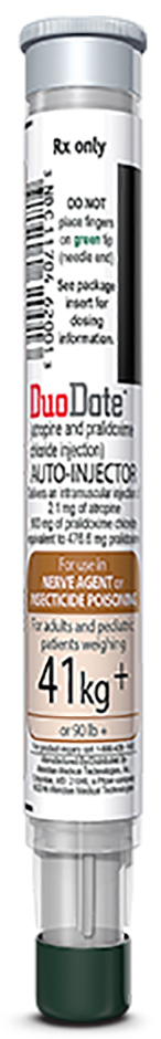Meridian Medical Auto-Injector Pen, Duodote (Atropine and Pralidoxime) Injector