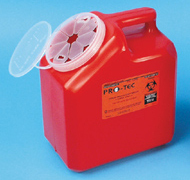 Sharps Pro-Tec Collection Containers, Red