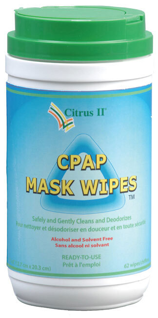 Citrus II CPAP Mask Cleaning Wipes, 62/tub