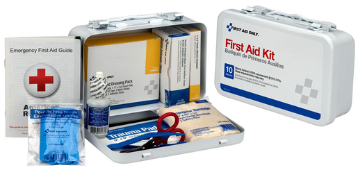 First Aid Only<sup>&reg;</sup> Pac-Kit First Aid Kit with Steel Case, ANSI 10