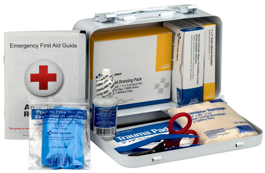 First Aid Only<sup>®</sup> Pac-Kit First Aid Kit with Steel Case, ANSI 10