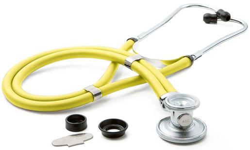 ADC<sup>®</sup> Adscope<sup>™</sup> 641 Sprague Stethoscope, Neon Yellow