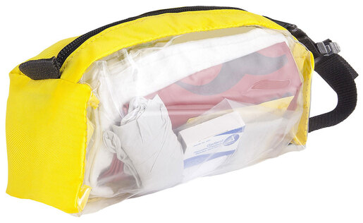 Curaplex<sup>®</sup> AED/Defibrillator Support Kit in Yellow Pouch