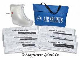 Mayflower Air Splint Kit, 6 Splints with Nylon Case
