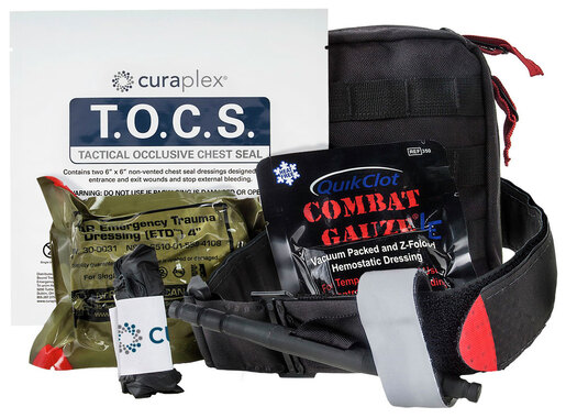Curaplex<sup>®</sup> Officer Down Basic IFAK Kits, w/ C-A-T Tourniquet