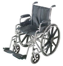 Mabis Wheelchair with Removable Desk Arms and Swing-away Foot Rest