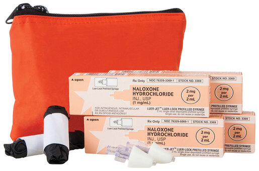 Curaplex<sup>®</sup> Opioid Overdose Kit with Red Nylon Case, 4-dose