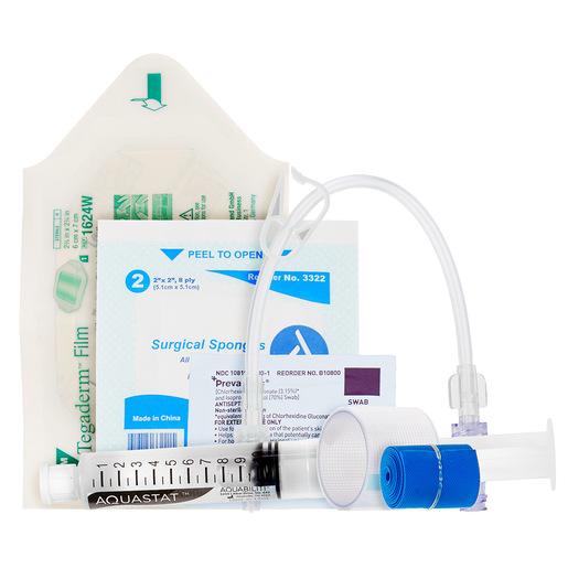 "Curaplex<sup>®</sup> IV Start Kit with Tegaderm, Flush Syringe, 8"" Extension Set"
