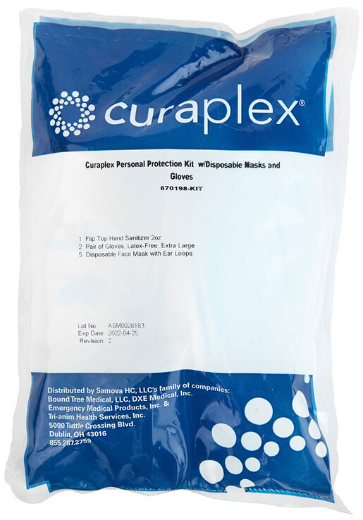 Curaplex<sup>®</sup> Return-to-work PPE Kit with Disposable Mask and Gloves, COVID-19