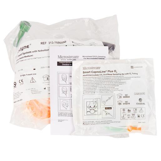Curaplex® CPAP/Capno Kit, O2 MAX Guard Bitrac ED Mask, Neb, Fixed Flow, Medium, 3-Set Valve