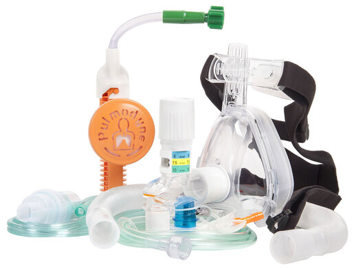 Curaplex<sup>®</sup> O2-MAX<sup>™</sup> BiTrac ED<sup>™</sup> Mask with Neb & CO2 Sampling Lines, Large Adult, 3-set Valve with Diss Connector