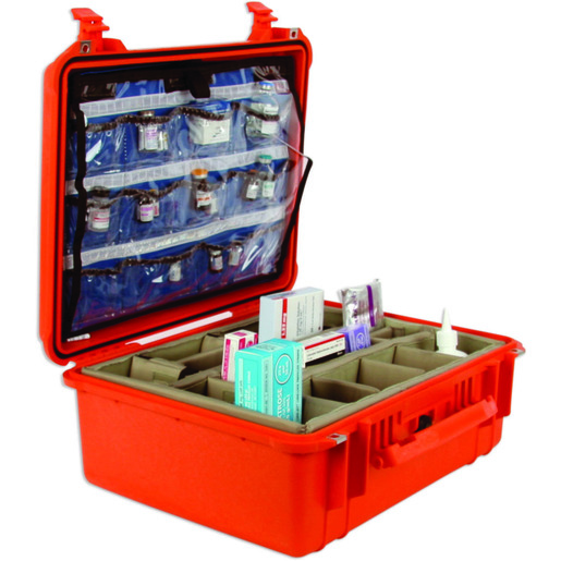 Curaplex<sup>®</sup> Pro Hard Drug Case with Lid Insert and Bottom Dividers, Orange