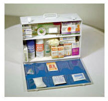 Industrial First Aid Kit, 2-shelf, Medium