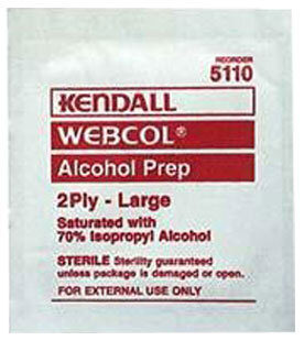 Kendall Webcol<sup>®</sup> Alcohol Prep Pads, Medium