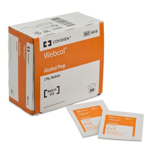 Kendall Webcol<sup>®</sup> Alcohol Prep Pads, Medium