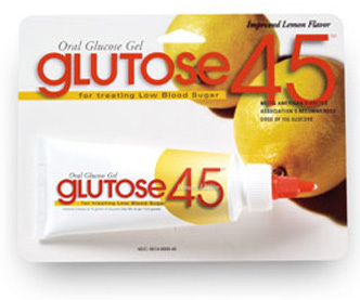 Glutose 45<sup>™</sup> Oral Glucose Gel, Multi-Use, Lemon Flavor, 45g Tube