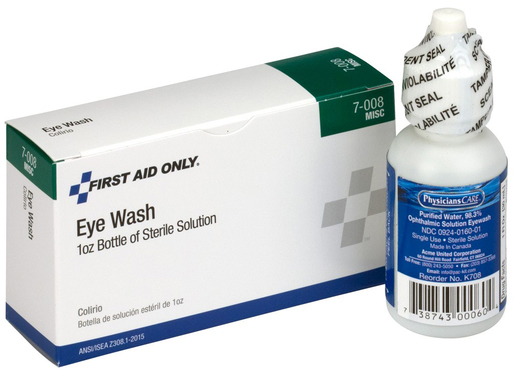 First Aid Only<sup>®</sup> Pac-Kit Eye Wash Solution, 1oz