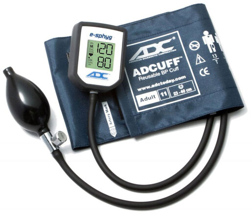 ADC<sup>®</sup> E-Sphyg<sup>™</sup> Digital Aneroid Sphygmomanometers, Latex-free, Adult